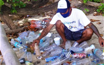 Clean ups on Siladen Island
